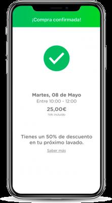 pantalla-de-confirmación-de-la-aplicación-cleander